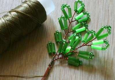 Как собрать бисерное дерево 3