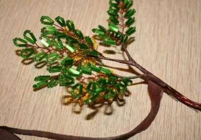 Как собрать бисерное дерево 7