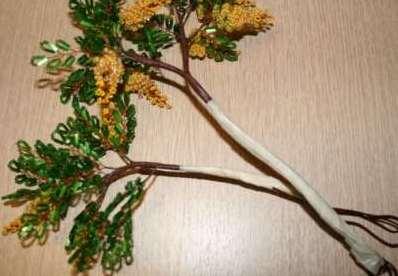 Как собрать бисерное дерево 9