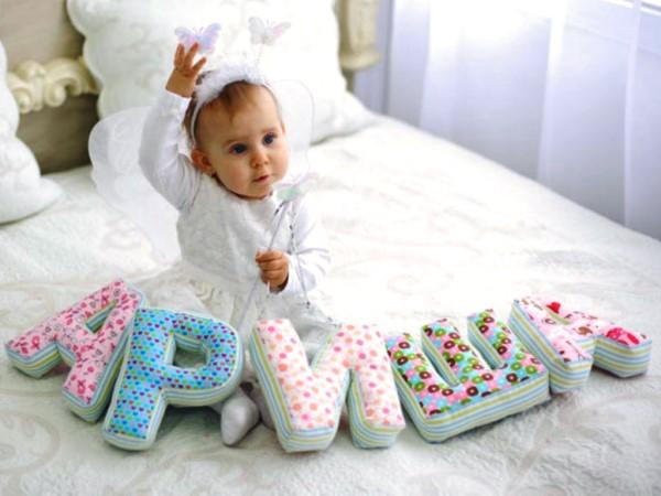 Буквы для новорожденного своими руками