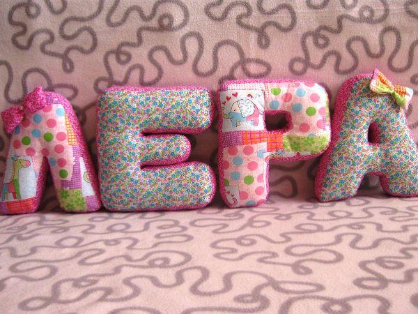 Подушки-буквы своими руками фото