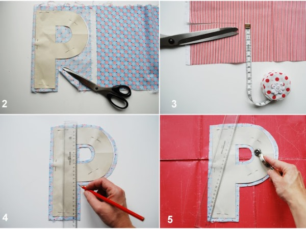 Как сделать буквы своими руками из ткани