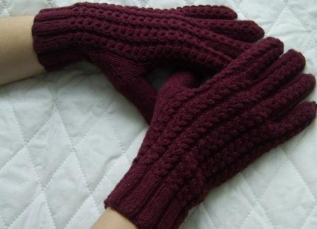 Для вязания мужских перчаток