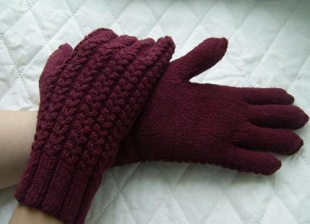 мужские перчатки спицами,
