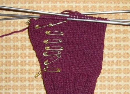 как связать перчатки спицами 5