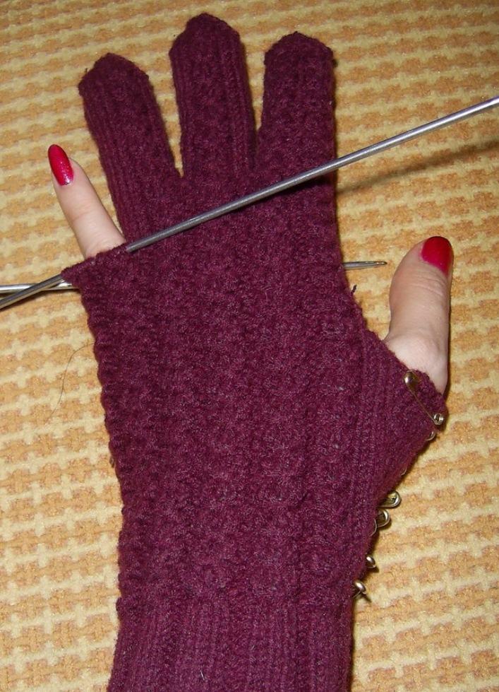 Вязание спицами для перчаток 195