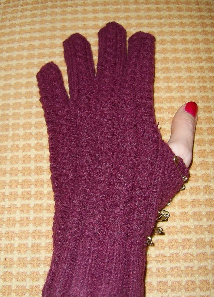 Фото вязания большого пальца