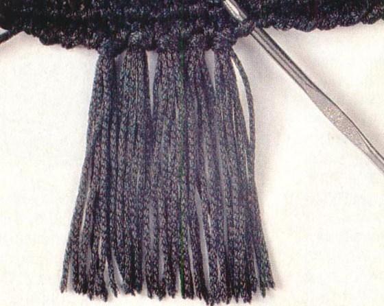 Бахрома для шарфа своими руками фото