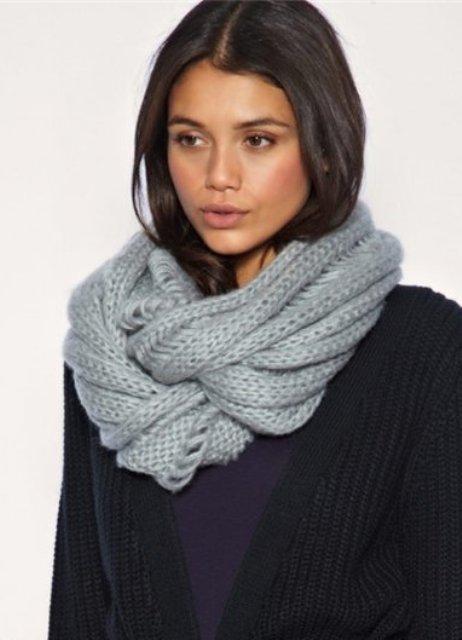 Как правильно носить шарф хомут картинки