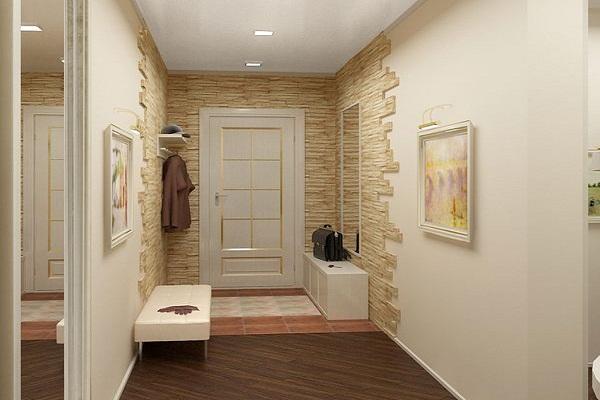 Интерьеры с камнем в квартире