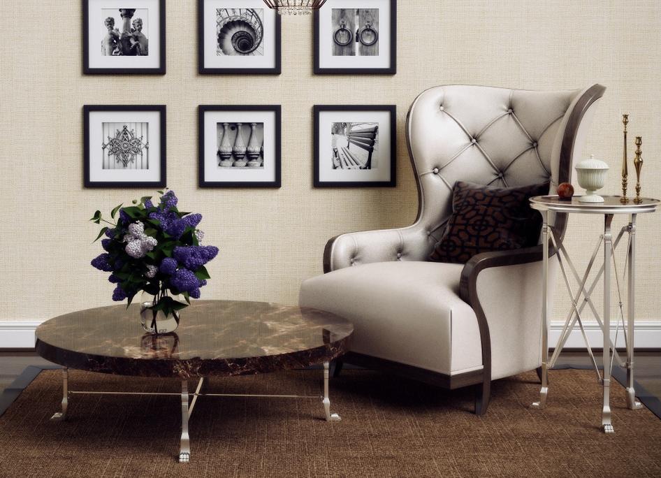Журнальный столик с каменной столешница классика заказать стол из камня Летуново