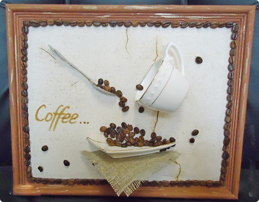 Панно из кофейных зерен своими руками видео мастер класс