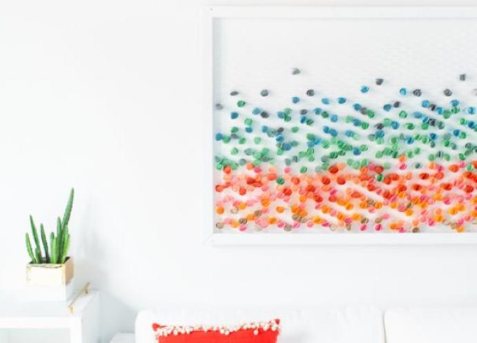 Картина в гостиную из подручных материалов