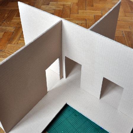 Как сделать потолок и стены из картона