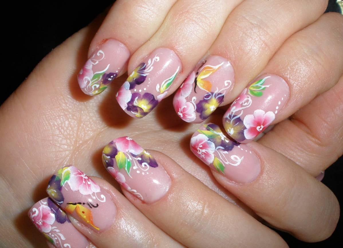 Дизайн китайской росписи на ногтях