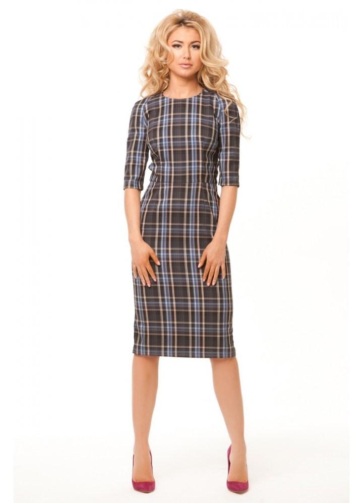 платье клетчатое фото