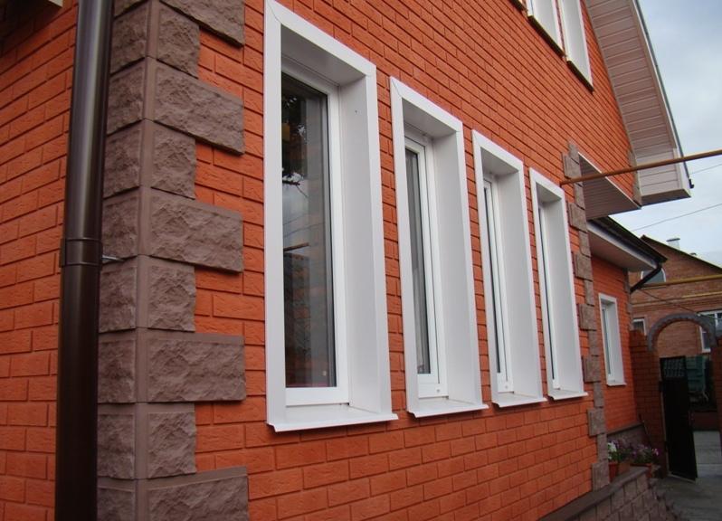 фасад из клинкерной плитки фото
