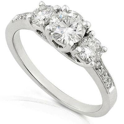 Кольцо из белого золота с бриллиантом | Кольца из