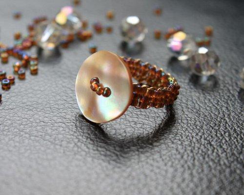 кольцо из бисера для начинающих 10