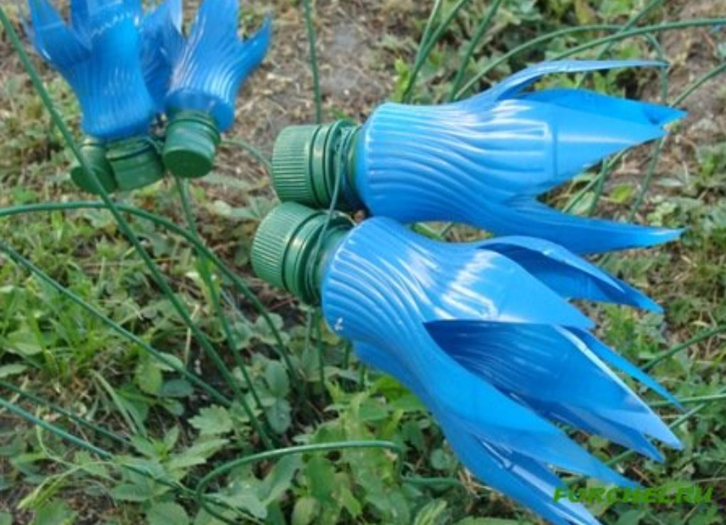 Как сделать колокольчики из пластиковых бутылок пошагово