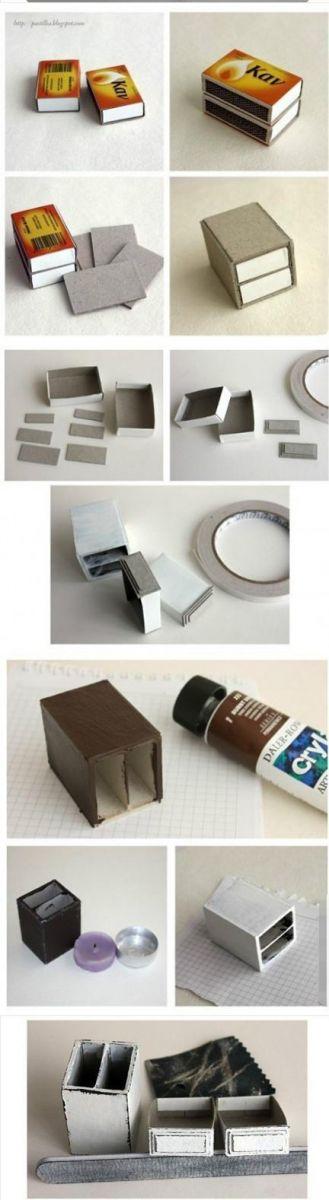 Мебель из спичечных коробков своими руками инструкция 67