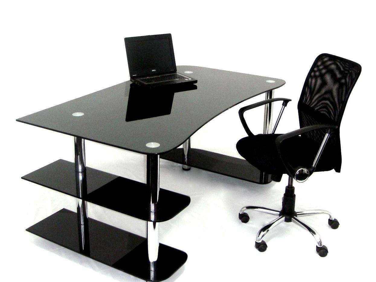 стеклянные столы компьютерные фото