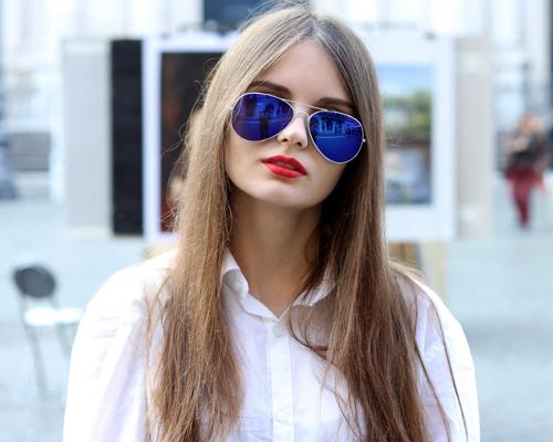 Купить зеркальные очки авиатор женские