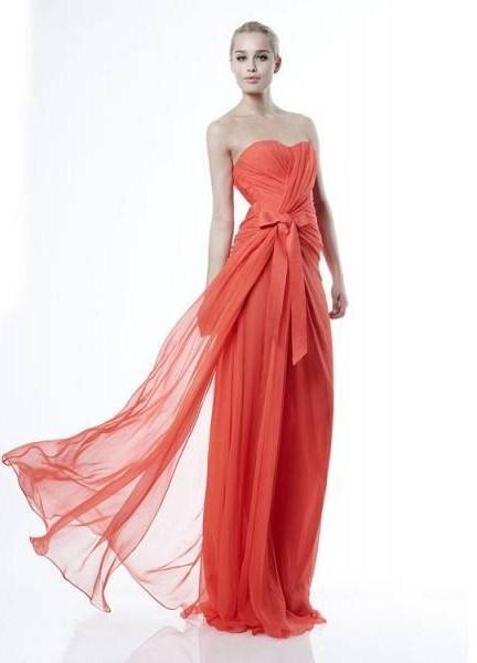 Коралловое платье на выпускной