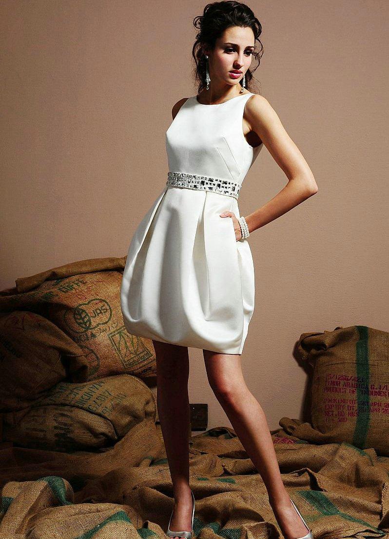 короткие белые свадебные платья1