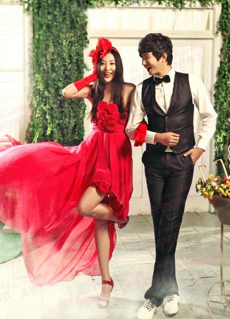 короткие красные свадебные платья1 · короткие красные свадебные платья2