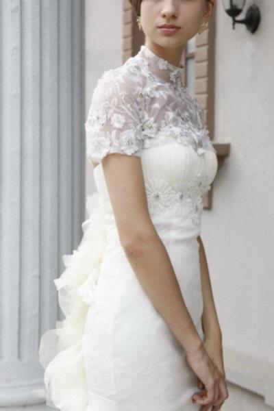 Ажурное свадебное платье короткое