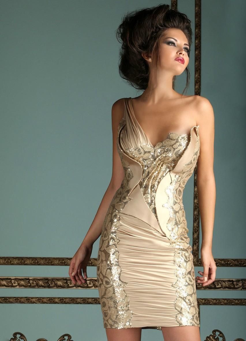 Короткие вечерние платья 2013