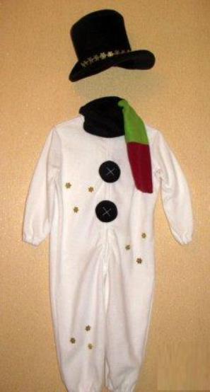 костюм снеговика своими руками 27
