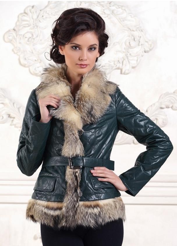 Кожаные зимние куртки женские с мехом. с чем носить рыжую туфли