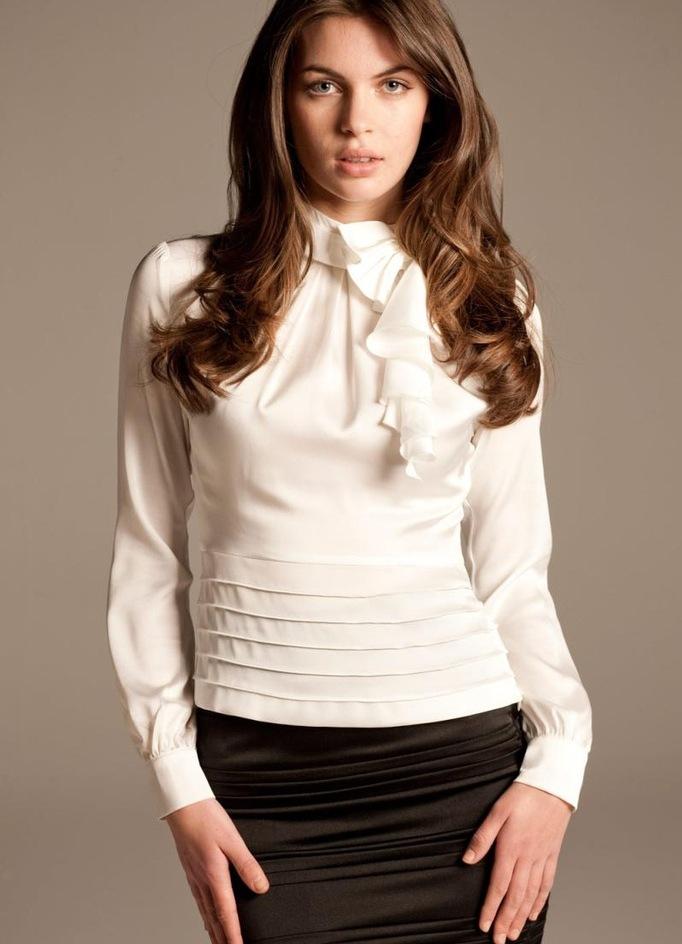 Стиль Белые Блузки