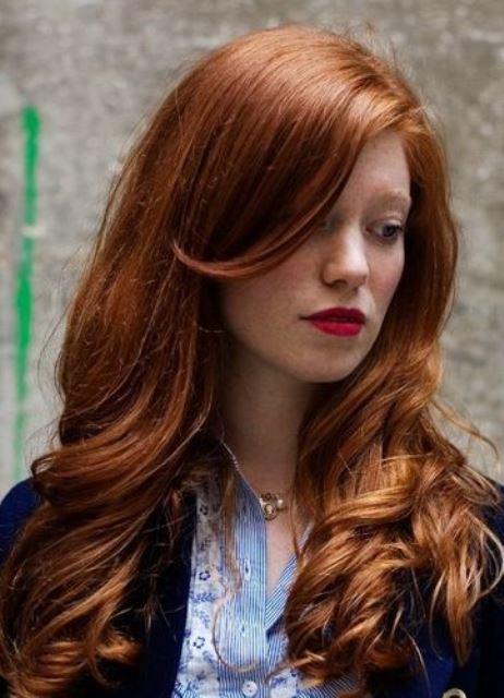 Волосы с рыжим оттенком