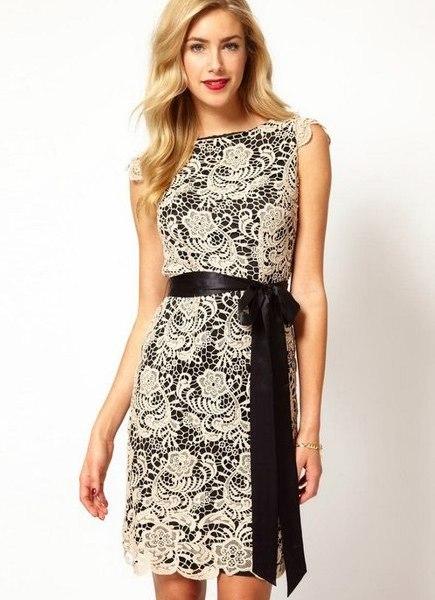 Фасоны платьев комбинированные с гипюром