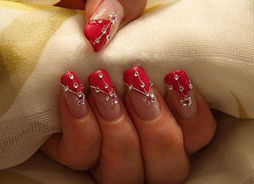 Инкрустация стразами ногтей разнообразие страз и их использование в маникюре