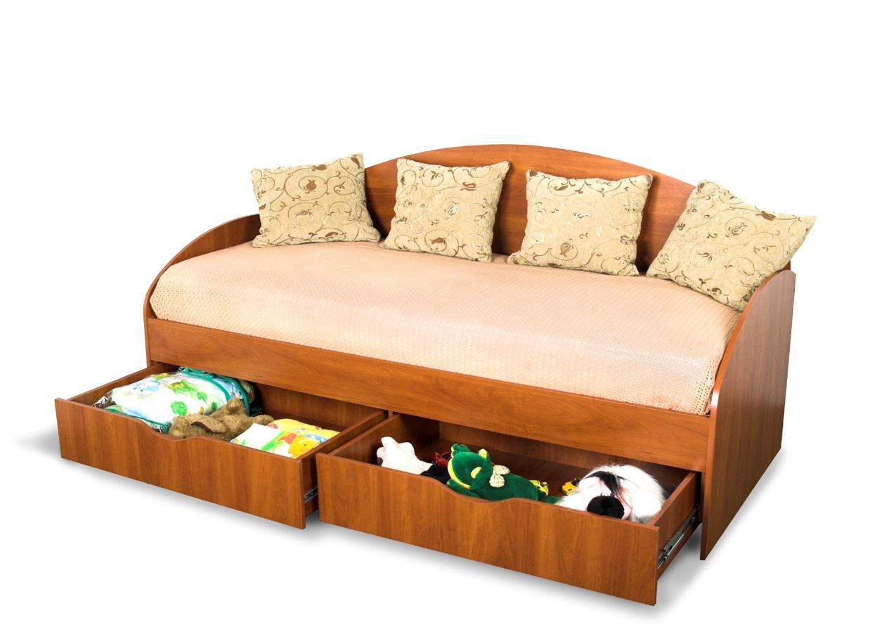 Простой диван с ящиками своими руками