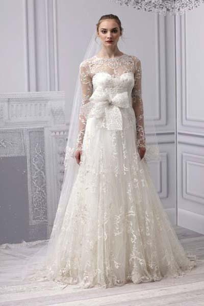 Платья для венчания с кружевом
