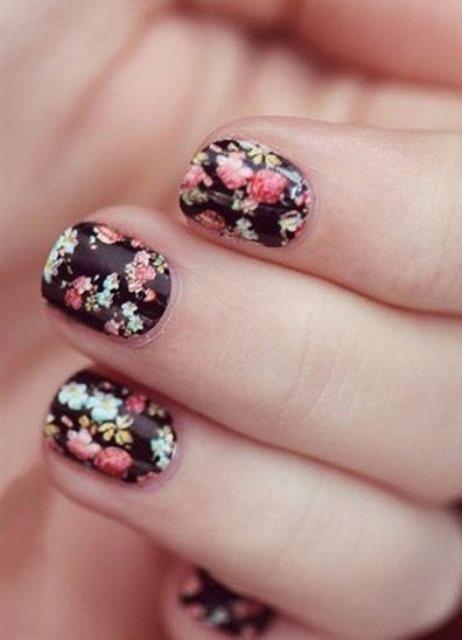 нарощенные ногти осенний дизайн фото: