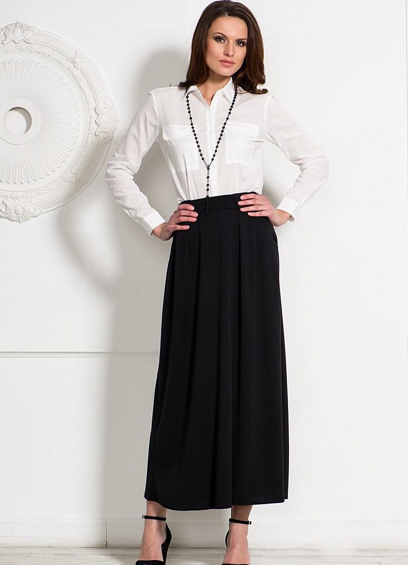 С чем одеть трикотажную длинную юбку