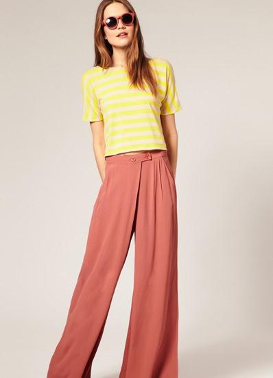 Широкие модные брюки как носить