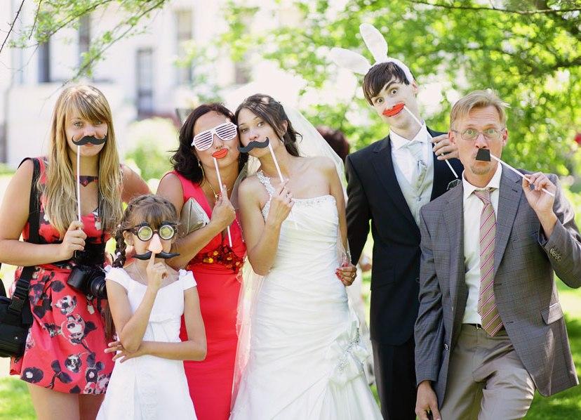 Аксессуары на свадьбу для фотосессии