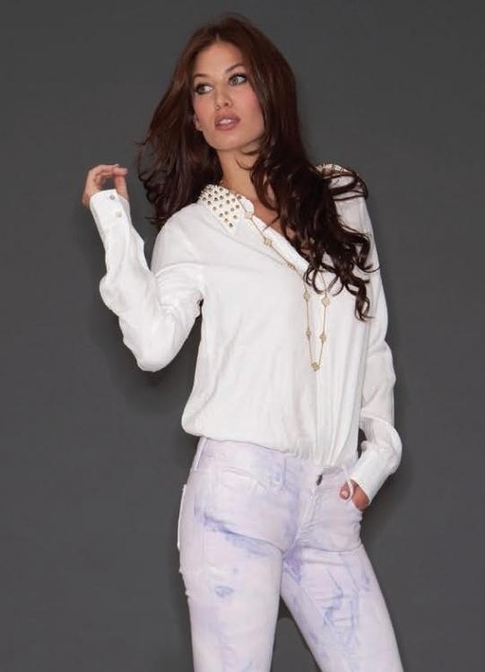 Блузка белая большого размера в самаре