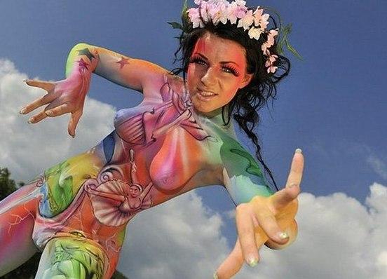 фото боди-арт женщины