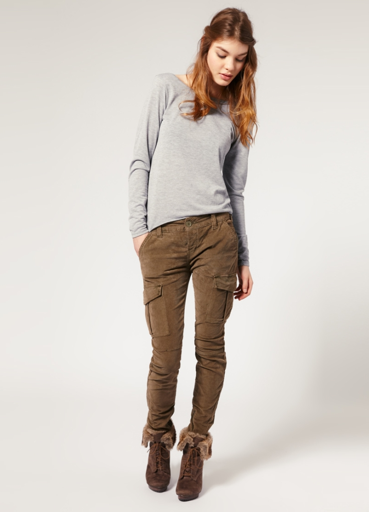 Карго брюки женские милитари
