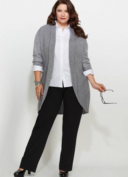 Деловая одежда для полных женщин