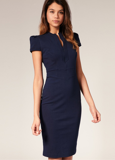 деловое платье-футляр