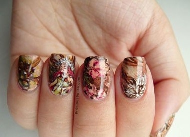 Осень дизайн на ногтях